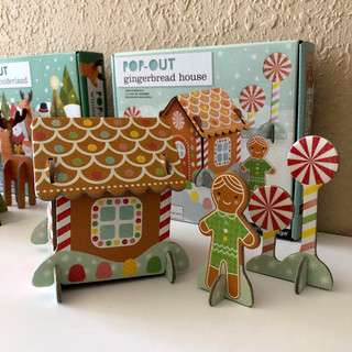 PetitCollage Gingerbread House Pop-Out