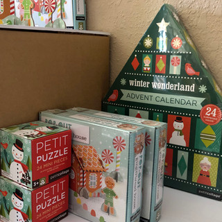 PetitCollage Winter Wonderland Advent Calendar, Petit Puzzle and Gingerbread House Pop-Out