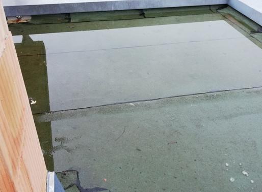 Terrassenabdichtungen brauchen ein Gefälle