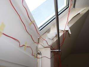 Messung der Oberflächentemperaturen an einem Dachfenster