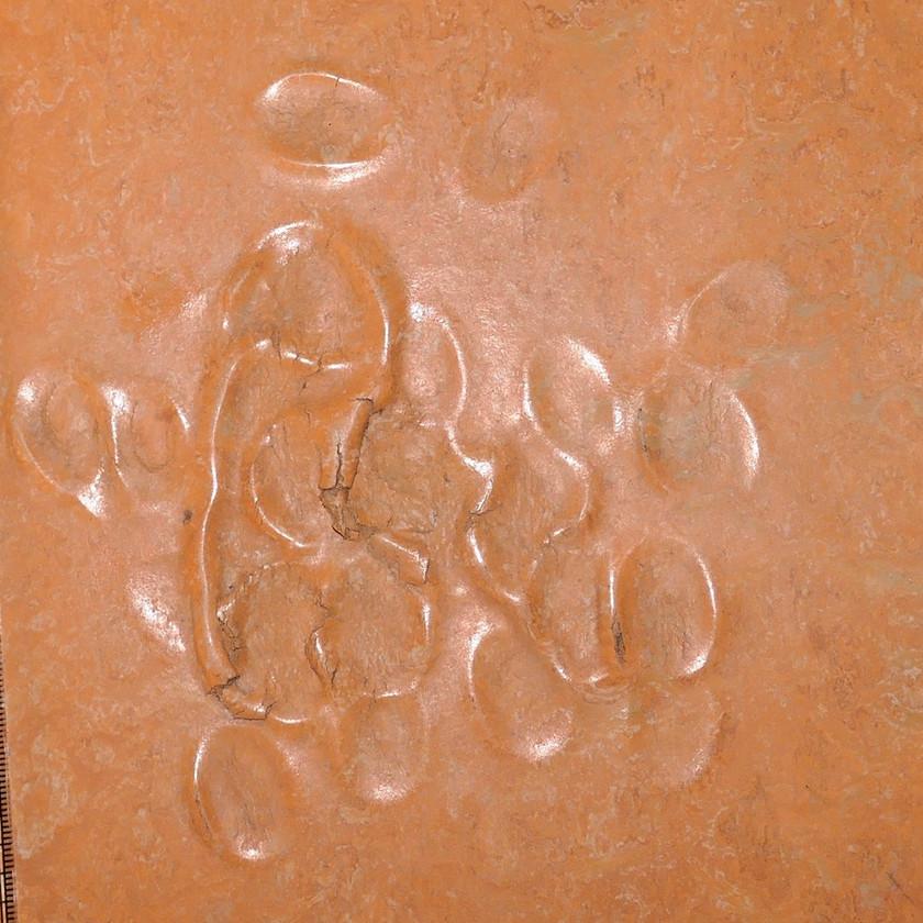 Intensive Verwalkungen eines Bodenbelags aus Linoleum