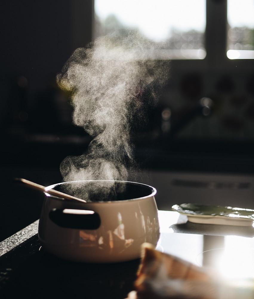 Luftfeuchte durch Kochen muss schnell abgeführt werden