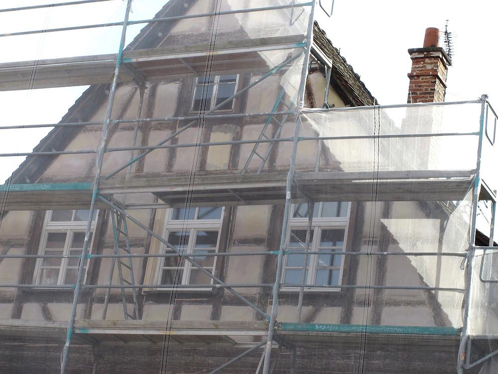 Sanierung einer Fachwerkfassade
