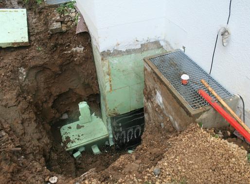 Wasserschaden durch Grundwassereintritte in einen Keller