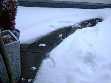 Beheizung einer Terrassenentwässerung