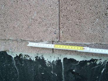 Zu geringes Überbindemaß bei Mauerwerk