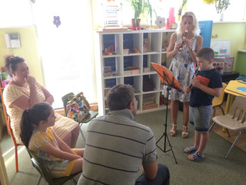Children's recorder and piano concerts at Benjamin Myslenicka