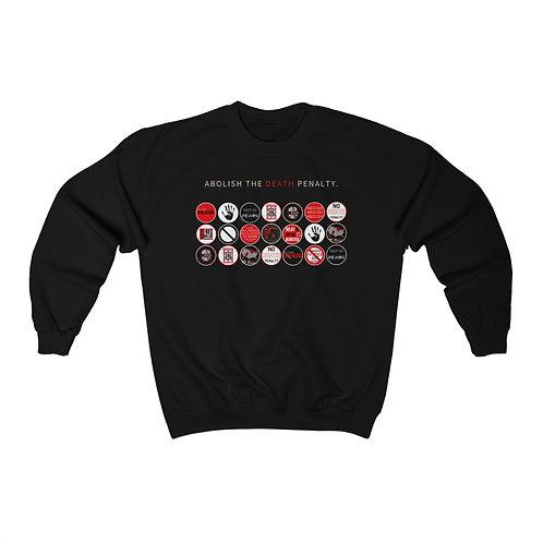 Anti-Sticker Print Crewneck Sweatshirt