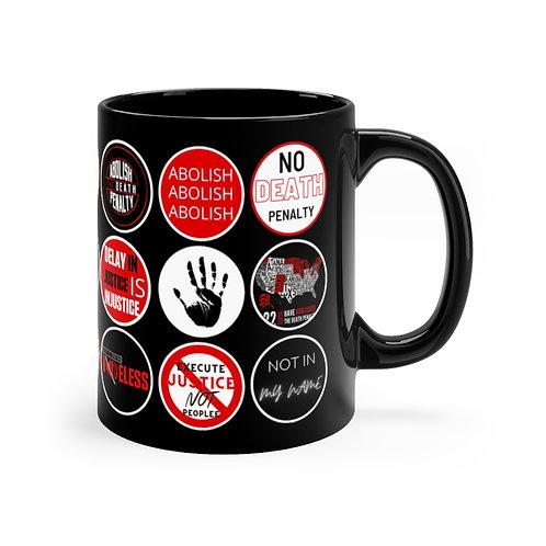 Ant- Sticker Print Black mug 11oz