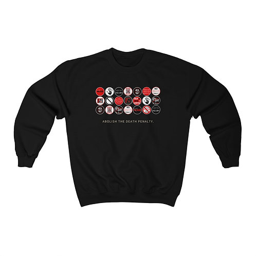 Anti-Sticker Print Unisex Crewneck Sweatshirt