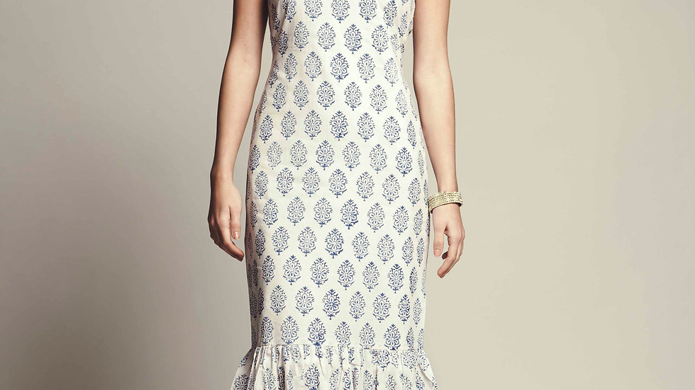 Vera Hand Block Printed Cotton Dress