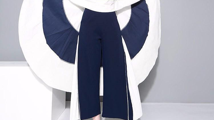 Augustini Striped Twirl Top - Blue