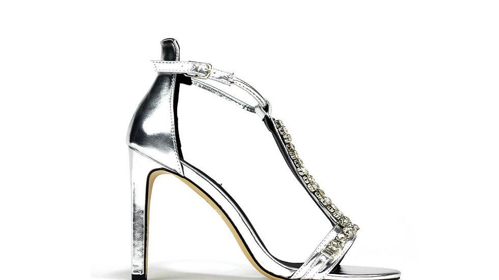 Big Stone Heel Silver
