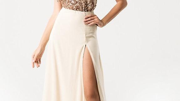 Sequin Halter Gown