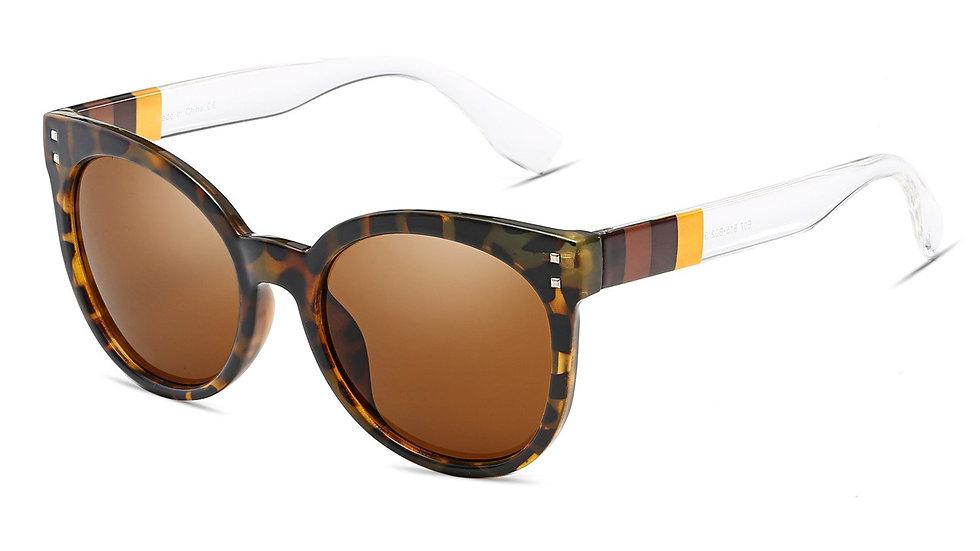 HYANNIS | E07 - Jaunty Mirrored Lens Soft Cat Eye Sunglasses