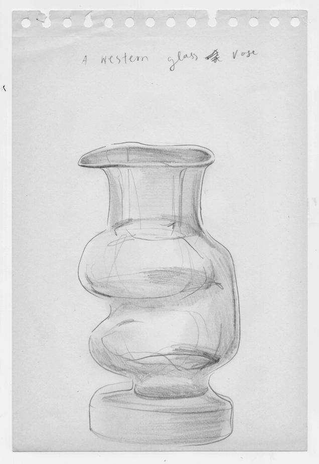 a western glass vase