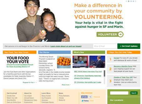 Volunteering at the SF/Marin Food Bank