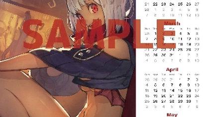 HIDE先生 A3サイズカレンダー