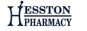 Hesston Pharmacy Logo White Back Blue Te