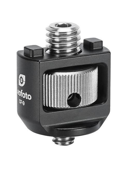 """Leofoto CF-9 Conversion Adapter 3/8"""" Anti-Twist Stud to 1/4"""" Stud"""