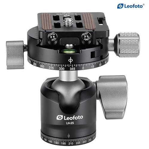 Leofoto LH-25R 25mm Low Profile Ball Head with Panning Clamp