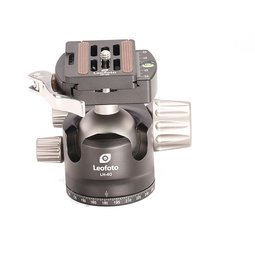 Leofoto LH-40LR Low Profile Ball Head with Quick Release Clamp and NP-50 Plate
