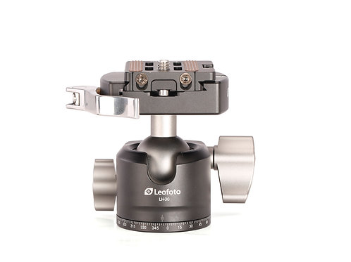 Leofoto LH-30LR Low Profile Ball Head with Quick Release Clamp and NP-50 Pl