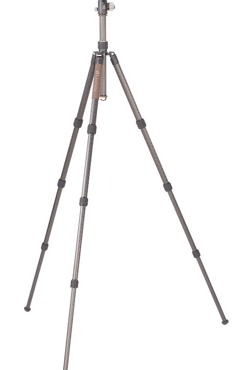 Leofoto LX-284CT+XB38 28mm 4 Section Compact Carbon Fibre Tripod w/ Ball Head