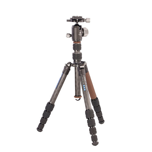 Leofoto LX-225CT+XB32Q 22mm 5 Section Compact Carbon Fibre Tripod w/ Ball Head