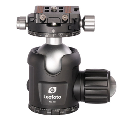 Leofoto NB-40 Pro Ball Head with Panning Clamp and NP-50 Plate