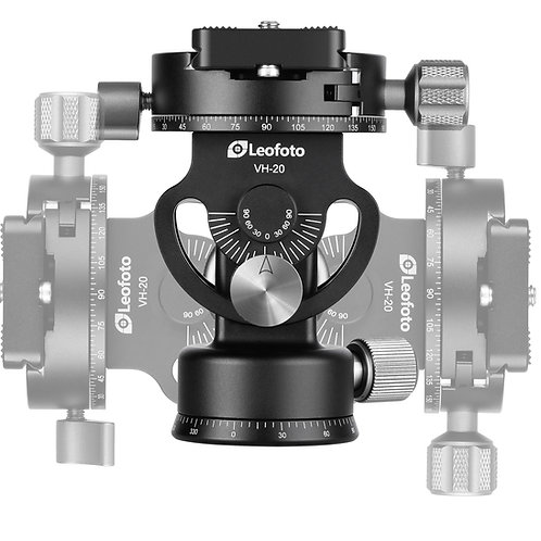 """Leofoto VH-20 48mm Monopod Head with 3/8"""" Mount Panning Base and Panning Clamp"""