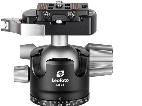 Leofoto LH-36LR 36mm Low Profile Ball Head with Lever Release Clamp