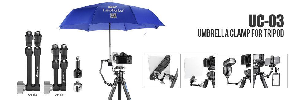 leofoto Umbrella Clamp and Accesories