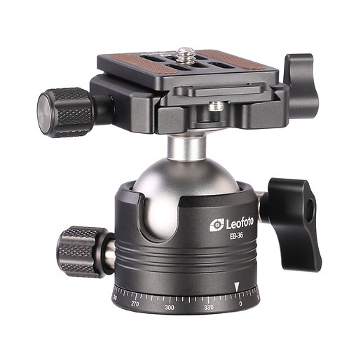 Leofoto EB-36 Low Profile Ball Head with NP-50 Plate