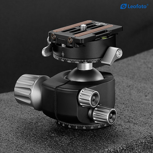 Leofoto LH-55PCL 55mm Low Profile Ball Head with Lever Release Panning Clamp