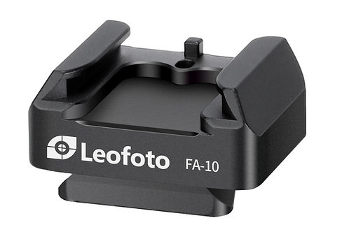 """Leofoto FA-10 Cold Shoe with V-Lock QR Plate or 1/4"""" Mounting Thread"""