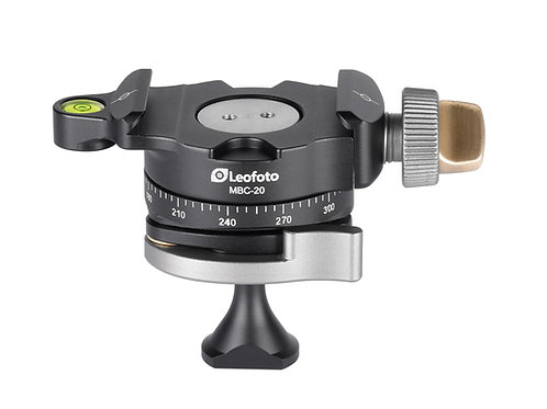 Leofoto MBC-20 18mm Lever Lock Mini Ball Head with Panning Clamp