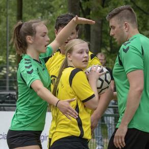 Korfballers sv Conventus komen net tekort op nummer twee in de competitie