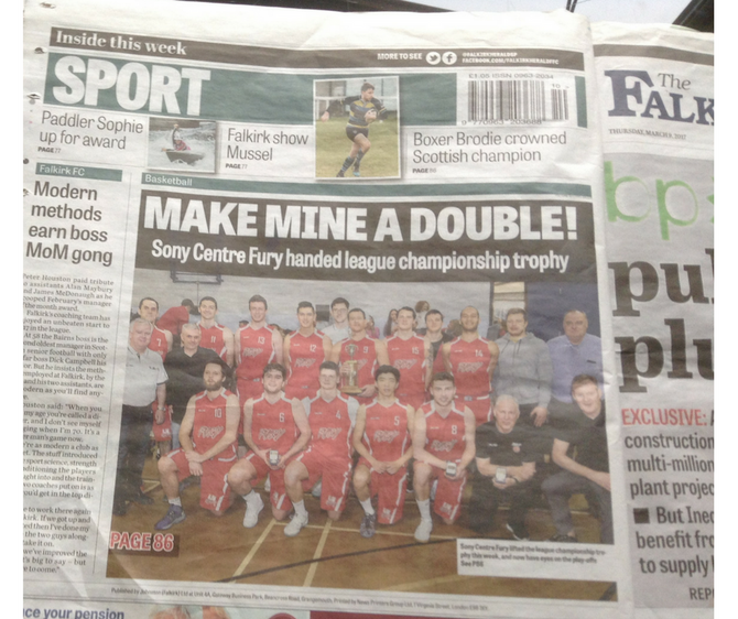 SUPER FALKIRK HERALD COVERAGE OF OUR SPORT!