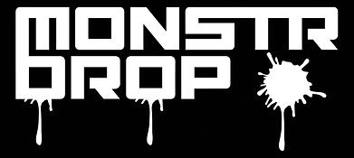 NEW Monstr drop logo w_ drips (WHITE).pn