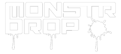 NEW Monstr drop logo w_ drips (WHITE)_ed