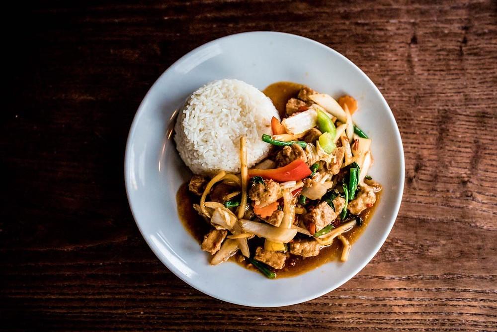 Pad Kra Pao Cambridge Thai Food