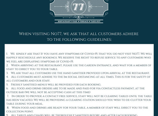 No.77 Covid 19 Guidelines