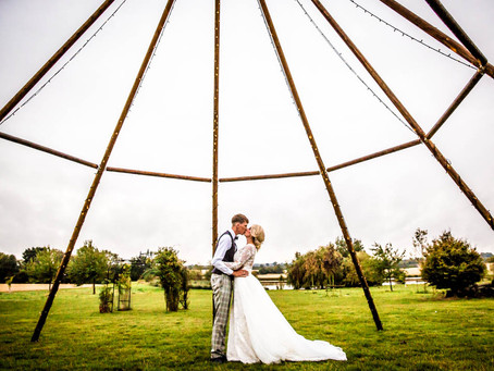 Helen & Sam Wedding Preview - A Tipi Wedding In The Rain at Hounslow Hall