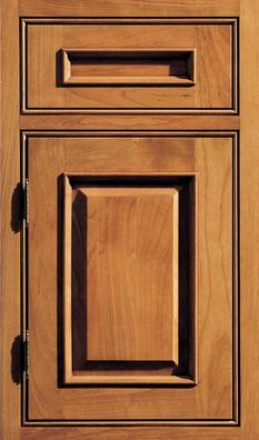 Chapel Hill Classic Inset Door Cherry wood Butternut stain