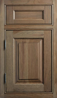 Kendall Inset Door Hickory wood with Morel stain