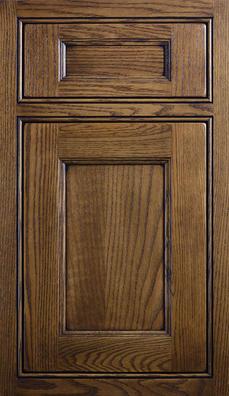 Meridien Inset Door Oak wood with Heirloom stain