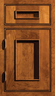 Silverton Inset Door Cherry wood Mission/Black Accent stain