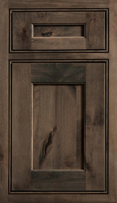 Highland Inset Door Knotty Alder wood with Morel stain