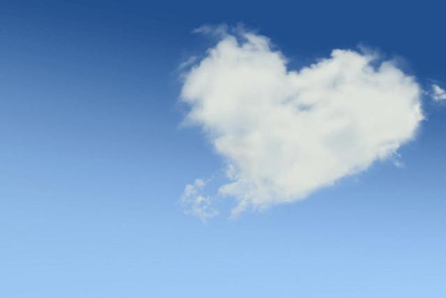 ハート模様の雲